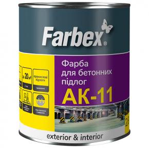 Краска для бетонных полов Farbex АК-11 светло-серая