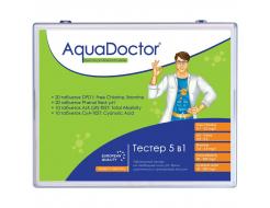 Тестер AquaDoctor 5 в 1 таблеточный pH, CL, Br, Cy, Alk (20 тестов)