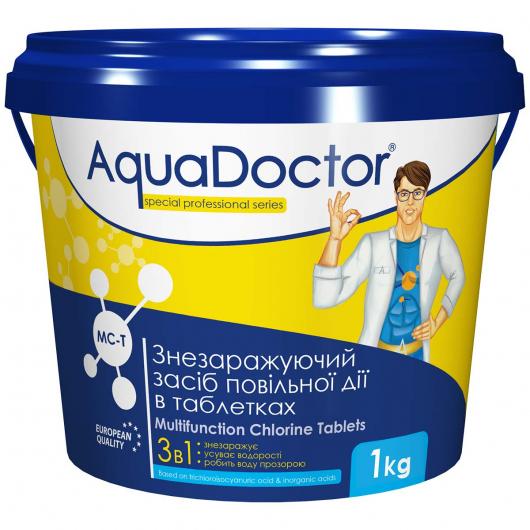 Дезинфектант 3 в 1 на основе хлора AquaDoctor MC-T (200 г/таб) - изображение 2 - интернет-магазин tricolor.com.ua