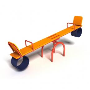 Качели-балансир Kidigo Старт с металлическим каркасом 2,4х0,4х0,9 м - интернет-магазин tricolor.com.ua