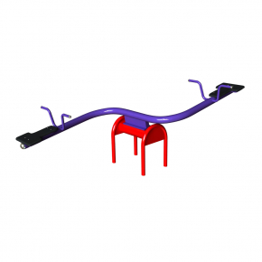 Качели-балансир Kidigo Волна 2,3x0,7x0,9 м - интернет-магазин tricolor.com.ua
