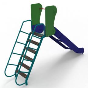 Горка Kidigo Ласточка 2,8х0,59х1,66 м, высота спуска 0,9 м - изображение 2 - интернет-магазин tricolor.com.ua