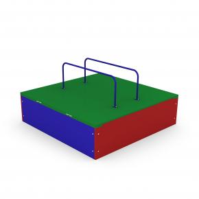 Песочница Kidigo Раскладушка 0,9х0,9х0,3 м - изображение 2 - интернет-магазин tricolor.com.ua
