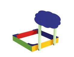 Навес Kidigo для песочницы двойной Тучка 15 дерево 1,5х1,25х1,5 м - изображение 3 - интернет-магазин tricolor.com.ua