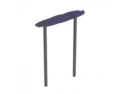 Навес Kidigo для песочницы двойной Тучка 15 металл 1,5х1,25х1,5 м - изображение 2 - интернет-магазин tricolor.com.ua