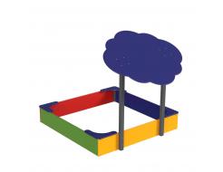Навес Kidigo для песочницы двойной Тучка 15 металл 1,5х1,25х1,5 м - изображение 4 - интернет-магазин tricolor.com.ua