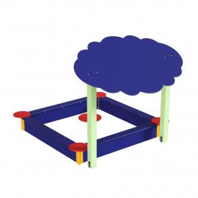 Навес Kidigo для песочницы двойной Тучка 20 дерево 2,0х1,25х1,5 м - изображение 6 - интернет-магазин tricolor.com.ua