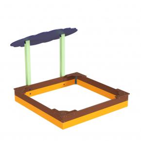 Навес Kidigo для песочницы двойной Тучка 20 дерево 2,0х1,25х1,5 м - изображение 3 - интернет-магазин tricolor.com.ua