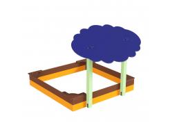 Навес Kidigo для песочницы двойной Тучка 20 дерево 2,0х1,25х1,5 м - изображение 5 - интернет-магазин tricolor.com.ua