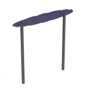 Навес Kidigo для песочницы двойной Тучка 20 металл 2,0х1,25х1,5 м - изображение 2 - интернет-магазин tricolor.com.ua