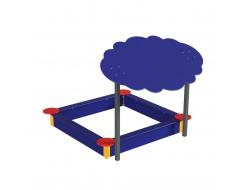 Навес Kidigo для песочницы двойной Тучка 20 металл 2,0х1,25х1,5 м - изображение 4 - интернет-магазин tricolor.com.ua
