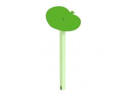 Навес Kidigo для песочницы одинарный Листик дерево 0,9х0,9х1,5 м