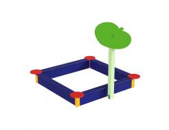 Навес Kidigo для песочницы одинарный Листик дерево 0,9х0,9х1,5 м - изображение 2 - интернет-магазин tricolor.com.ua