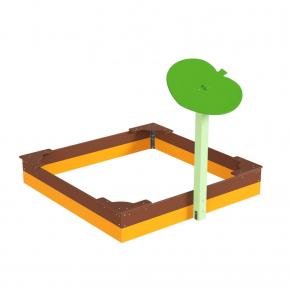 Навес Kidigo для песочницы одинарный Листик дерево 0,9х0,9х1,5 м - изображение 3 - интернет-магазин tricolor.com.ua