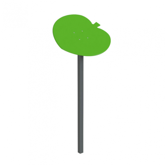 Навес Kidigo для песочницы одинарный Листик металл 0,9х0,9х1,5 м - интернет-магазин tricolor.com.ua