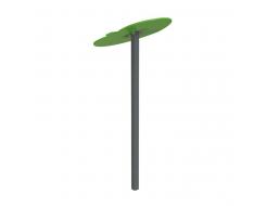 Навес Kidigo для песочницы одинарный Листик металл 0,9х0,9х1,5 м - изображение 2 - интернет-магазин tricolor.com.ua