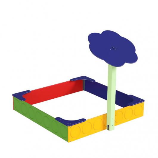 Навес Kidigo для песочницы одинарный Тучка 1 дерево 0,9х0,9х1,5 м - изображение 3 - интернет-магазин tricolor.com.ua