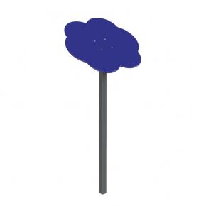 Навес Kidigo для песочницы одинарный Тучка 1 металл 0,9х0,9х1,5 м - интернет-магазин tricolor.com.ua