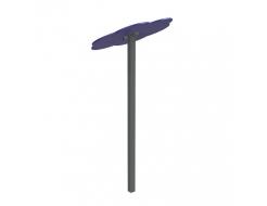 Навес Kidigo для песочницы одинарный Тучка 1 металл 0,9х0,9х1,5 м - изображение 3 - интернет-магазин tricolor.com.ua
