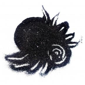 Глиттер GBL Dark/0,2 мм (1/128) темно-черный Tricolor (905) - изображение 2 - интернет-магазин tricolor.com.ua