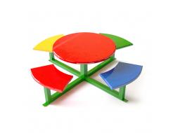 Детский столик Kidigo 1,5х1,5х1,02 м, диаметр стола 1 м - интернет-магазин tricolor.com.ua