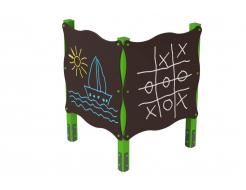Доска для рисования двойная Kidigo 1,22х1,22х1,62 м - интернет-магазин tricolor.com.ua