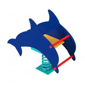 Качалка на пружине Дельфин Kidigo 1,0х0,43х0,9 м - интернет-магазин tricolor.com.ua