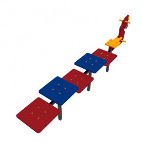 Детская лавка Конек Kidigo 2,5 х 0,4 х 0,55 м - изображение 3 - интернет-магазин tricolor.com.ua