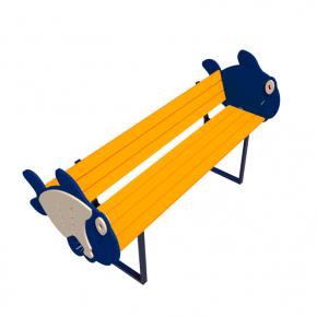 Детская лавка Рыбка Kidigo 1,53 х 0,7 х 0,81 м - изображение 2 - интернет-магазин tricolor.com.ua