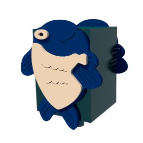 Урна для детской площадки Рыбка Kidigo 0,5х0,5х0,6 м - интернет-магазин tricolor.com.ua