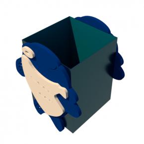 Урна для детской площадки Рыбка Kidigo 0,5х0,5х0,6 м - изображение 2 - интернет-магазин tricolor.com.ua