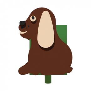 Урна для детской площадки Собачка Kidigo 0,5х0,5х0,6 м - изображение 3 - интернет-магазин tricolor.com.ua