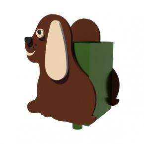 Урна для детской площадки Собачка Kidigo 0,5х0,5х0,6 м - интернет-магазин tricolor.com.ua