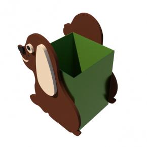 Урна для детской площадки Собачка Kidigo 0,5х0,5х0,6 м - изображение 2 - интернет-магазин tricolor.com.ua