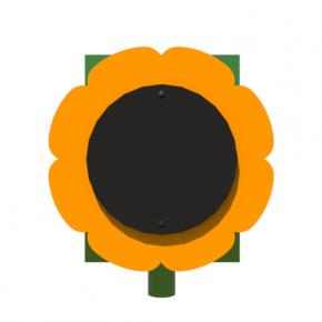 Урна для детской площадки Подсолнух Kidigo 0,5х0,5х0,6 м - изображение 3 - интернет-магазин tricolor.com.ua