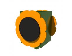 Урна для детской площадки Подсолнух Kidigo 0,5х0,5х0,6 м - интернет-магазин tricolor.com.ua