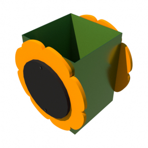 Урна для детской площадки Подсолнух Kidigo 0,5х0,5х0,6 м - изображение 2 - интернет-магазин tricolor.com.ua