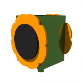 Урна для детской площадки Подсолнух Kidigo 0,5х0,5х0,6 м - изображение 4 - интернет-магазин tricolor.com.ua