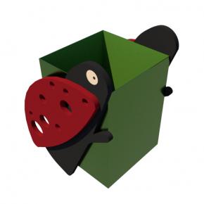Урна для детской площадки Божья коровка Kidigo 0,5х0,5х0,6 м - изображение 4 - интернет-магазин tricolor.com.ua