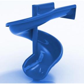 Горка стеклопластиковая Спираль Kidigo 0,7х3,0 м, высота спуска 1,5 м - изображение 2 - интернет-магазин tricolor.com.ua