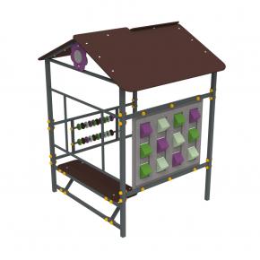 Детский домик Пиксель Kidigo 1,48х1,3х1,83 м - изображение 2 - интернет-магазин tricolor.com.ua