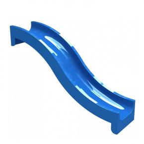 Горка стеклопластиковая Волна Kidigo 0,67х2,44 м, высота спуска 1,2 м
