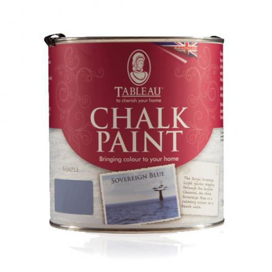 Меловая краска Tableau Chalk Paint Sovereign Blue (суверенный синий) - интернет-магазин tricolor.com.ua