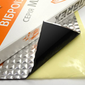Виброизоляция Vibrex Master лист 1.6 мм 0,35х0,5 м - интернет-магазин tricolor.com.ua