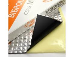 Виброизоляция Vibrex Master Light (на фольге 60 мкм) лист 2 мм 0,35х0,5 м - интернет-магазин tricolor.com.ua