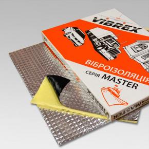 Виброизоляция Vibrex Master Light (на фольге 60 мкм) лист 2 мм 0,35х0,5 м - изображение 2 - интернет-магазин tricolor.com.ua