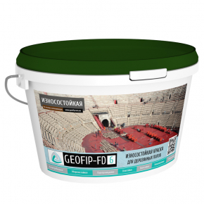 Краска для деревянных полов Geofip-FD6 износостойкая