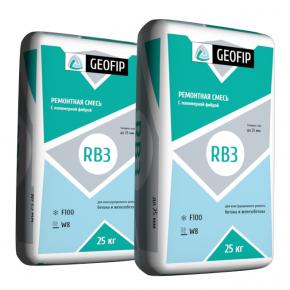 Ремонтная смесь Geofip-RB3 для бетона и железобетона