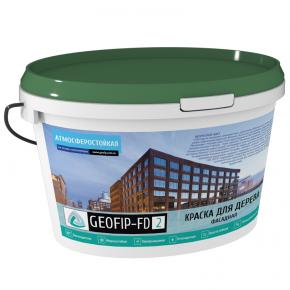 Краска для дерева Geofip-FD2 фасадная белая