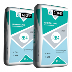 Ремонтная смесь Geofip-RB4 для бетона и железобетона